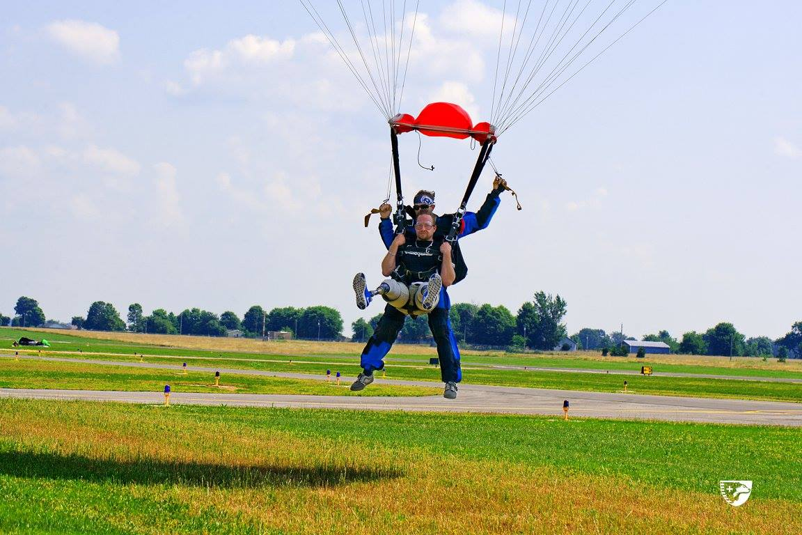 Skydiving Events Renew Spirits of Sponsored Sheep Dogs