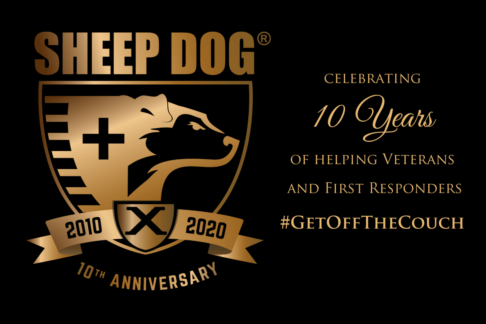 SDIA is Celebrating 10 Years of Helping Sheep Dogs #GetOffTheCouch in 2020