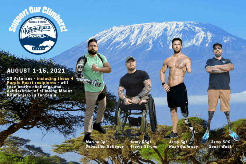 4 Purple Heart Recipients Need Your Support to Climb Kilimanjaro